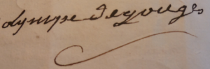 Signature Olympe B