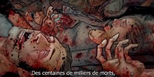 des centaines de milliers de morts