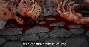 Rues remplies de sang
